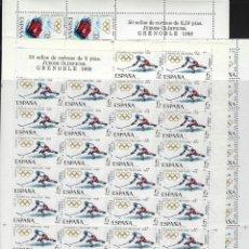 Sellos: ESPAÑA. AÑO 1968. X JUEGOS OLÍMPICOS DE INVIERNO EN GRENOBLE.. Lote 289767513