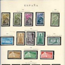 Sellos: SELLOS ESPAÑA 1956, XX ANIVERSARIO ALZAMIENTO, DIA DEL SELLO, 1º EXPOSICIÓN FLOTANTE, AÑO JUBILAR MS. Lote 289798053