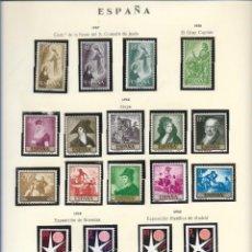 Sellos: SELLOS ESPAÑA 1957, CENT DE LA FIESTA DEL S. CORAZÓN DE JESÚS, EL GRAN CAPITALM, GOYA, EXPO BRUSELAS. Lote 289798278