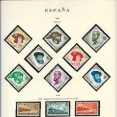 Sellos: SELLOS ESPAÑA 1958, CARLOS I, XVII CONGRESO INTERNACIONAL DE FERROCARRILES. Lote 289798408