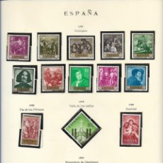 Sellos: SELLOS ESPAÑA 1959, VELAZQUEZ, PAZ LOS PIRINEOS, VALLE DE LOS CAÍDOS, NAVIDAD, MONASTERIO GUADALUPE. Lote 289798768