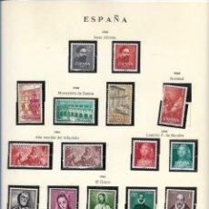 Sellos: SELLOS ESPAÑA 1960, ISAAC ALBÉNIZ, MONASTERIO DE SAMOS, NAVIDAD, AÑO MUNDIAL DEL REFUGIADO, EL GRECO. Lote 289800538