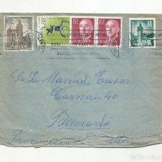 Sellos: CIRCULADA 1966 DE VALENCIA A BENICARLO CASTELLON CON SELLO PLAN SUR. Lote 289867338