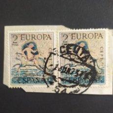 Sellos: ## ESPAÑA USADO 1973 EUROPA 2 SELLOS IGUALES ##. Lote 289897563