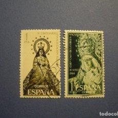 Sellos: ESPAÑA 1964-65 - EDIFIL 1598 - LA MACARENA - VIRGEN DE ANTIPOLO, EDIFIL 1693. Lote 289897888