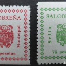 Sellos: SALOBREÑA (GRANADA). SELLO MUNICIPAL. 2 VALORES DE LA SERIE. Lote 289911953