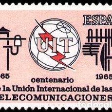 Sellos: ESPAÑA SEGUNDO CENTENARIO SERIES Nº 1670 ** UNION INTERNACIONAL DE LAS COMUNICACIONES. Lote 293983603