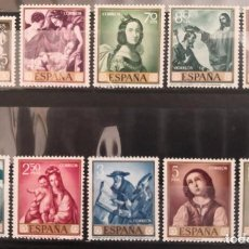 """Sellos: ESPAÑA 1962. EDIFIL 1418/1427. SERIE COMPLETA """"FRANCISCO DE ZURBARÁN"""". MNH***. Lote 293990693"""