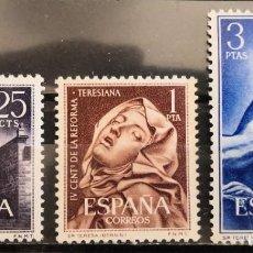 """Sellos: ESPAÑA 1962. EDIFIL 1428/1430. SERIE COMPLETA """"CENTENARIO REFORMA TERESIANA"""".MNH***. Lote 293990798"""