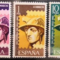 """Sellos: ESPAÑA 1962. EDIFIL 1431/1433. SERIE COMPLETA """" DÍA MUNDIAL DEL SELLO"""". MNH***. Lote 293990983"""