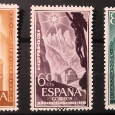 "Sellos: ESPAÑA1956. EDIFIL 1192/1194.SERIE COMPLETA ""AÑO JUBILAR DE MONTSERRAT""- MNH***. Lote 294958988"