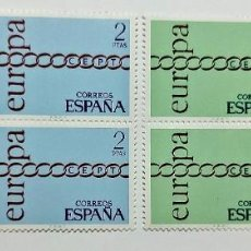 Sellos: SELLOS ESPAÑA 1971 - SERIE EUROPA - EDIFIL 2031-32 (COMPLETA) - EN BLOQUE DE 4 - NUEVOS. Lote 294967618