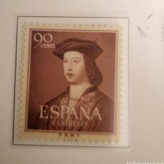 Sellos: SELLO DE ESPAÑA 1950 V CENTENARIO NACIMIENTO DE FERNANDO EL CATÓLICO 90 CTS EDIFIL 1108. Lote 295385488