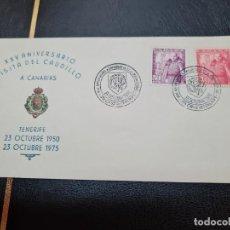Sellos: VISITA DEL CAUDILLO FRANCO TFE CALIDAD SUPER LUJO CANARIAS SERIE XXV ANIVERSARIO. Lote 295772918