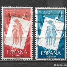 Sellos: ESPAÑA 1956 EDIFIL 1204 + 1205 USADO - 5/29. Lote 295976023
