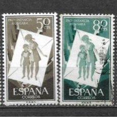 Sellos: ESPAÑA 1956 EDIFIL 1200/1205 USADO - 5/29. Lote 295976123