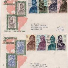 Sellos: DOS SOBRES PRIMER DÍA CERTIFICADOS CON LA SERIE COMPLETA EDIFIL 1678/85. Lote 296749548