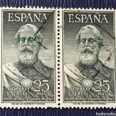 Sellos: ESPAÑA 1953 PAREJA DE SELLOS LEGAZPI USADOS. Lote 297076393