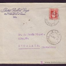 Sellos: ESPAÑA. (CAT. 669). 1934. SOBRE DE ELDA (ALICANTE). 30 CTS. MAT. FECHADOR * ELDA/ALICANTE *. BONITA.. Lote 49579714