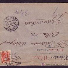 Sellos: ESPAÑA.(CAT.669).1932.SOBRE DE LA ESTRADA (PONTEVEDRA).30 C. MAT. *LA ESTRADA/PONTEVEDRA*.MAGNÍFICA.. Lote 26634812