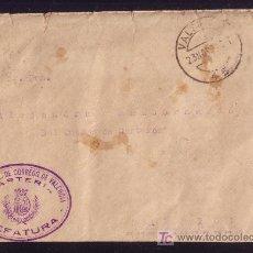 Sellos: ESPAÑA. 1932. SOBRE DE VALENCIA A SARRIÓN. MARCA FRANQUICIA VIOLETA DE VALENCIA CARTERIA. MAGNÍFICA.. Lote 23643091