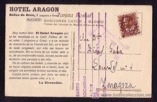 ESPAÑA. (CAT. 662).1932. T. P. PUBLICIDAD TURÍSTICA MADRID. 2 C. MAT. FECHADOR MANUSCRITO. MUY RARA. (Sellos - España - II República de 1.931 a 1.939 - Cartas)