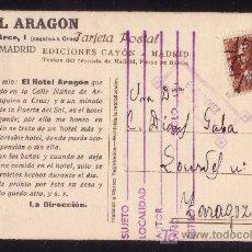 Sellos: ESPAÑA. (CAT. 662).1932. T. P. PUBLICIDAD TURÍSTICA MADRID. 2 C. MAT. FECHADOR MANUSCRITO. MUY RARA.. Lote 26102757