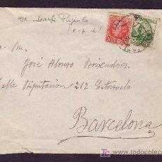 Sellos: ESPAÑA.(CAT.687,733).1937.SOBRE DE OLOT (GERONA) A BARCELONA.15C.ARENAL Y 30 C. JOVELLANOS.BONITA.. Lote 25333184