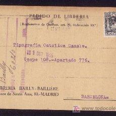 Selos: ESPAÑA. (CAT. 690). 1935. T. P. DE MADRID A BARCELONA. 15 C. CENTENARIO LOPE DE VEGA. RARO EN CARTA.. Lote 23119444
