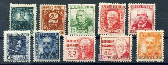 731/40* - CIFRA Y PERSONAJES 1936/38 (NUEVO CON CHARNELA) (Sellos - España - II República de 1.931 a 1.939 - Nuevos)