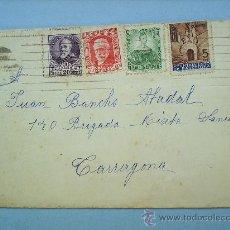 Sellos: SOBRE CON CARTA 1937-TARRAGONA. Lote 11761769