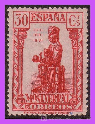 1931 IX CENT. MONTSERRAT Nº 643 * LUJO (Sellos - España - II República de 1.931 a 1.939 - Nuevos)