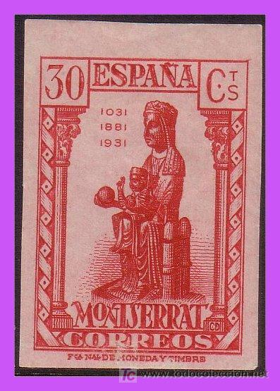 1931 IX CENT. MONTSERRAT Nº 643S * (Sellos - España - II República de 1.931 a 1.939 - Nuevos)