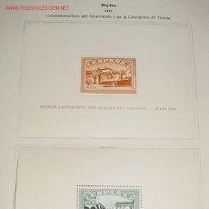 Sellos: 1937 - HOJITAS - CONMEMORATIVOS DEL ALZAMIENTO Y DE LA LIBERACION DE TOLEDO - SELLOS NUEVOS CON CHAR. Lote 26537831
