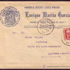 Sellos: ESPAÑA.(CAT.669).1932.SOBRE PUBLICIDAD DE CÁCERES A IGUALADA.30 CTS.MAT. FECHADOR.LLEGADA.MUY BONITO. Lote 25358767