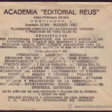 Sellos: ESPAÑA. (CAT. 687). 1935. SOBRE DE PUBLICIDAD * ACADEMIA EDITORIAL REUS * DE MADRID. 30 CTS. RARO.. Lote 33211399