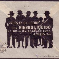 Sellos: ESPAÑA. (CAT. 816 (2)). 1938. SOBRE PUBLICIDAD D CALZADOS D SEVILLA A VITORIA. DOS 5 CTS. MUY RARO.. Lote 26147690