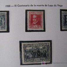 Timbres: 1935 III CENT.MUERTE DE LOPE DE VEGA. EDIFIL 690/93. Lote 26646497
