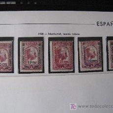 Sellos: 1938 TIPO DE MONTSERRAT 1931, HABILITADOS. EDIFIL 782/6. Lote 26646492
