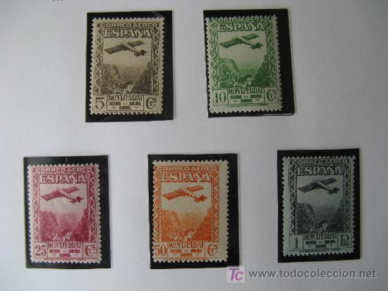 1931 IX CENT. FUNDACION MONASTERIO DE MONTSERRAT EDIFIL 650/54 (Sellos - España - II República de 1.931 a 1.939 - Nuevos)