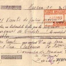 Sellos: ESPAÑA. HUESCA. 1934. LETRA DE CAMBIO REINTEGRADA CON SELLO FISCAL. MAGNÍFICA.. Lote 24130245