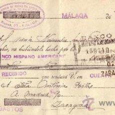 Sellos: ESPAÑA. MÁLAGA. 1935. LETRA DE CAMBIO REINTEGRADA CON SELLO FISCAL. MAGNÍFICA.. Lote 24492567
