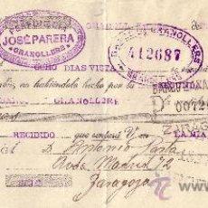 Sellos: ESPAÑA. GRANOLLERS (BARCELONA). 1934. LETRA DE CAMBIO REINTEGRADA CON SELLO FISCAL. MAGNÍFICA.. Lote 24470105