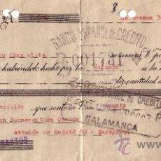 Sellos: SALAMANCA. 1939. LETRA DE CAMBIO REINTEGRADA CON SELLO FISCAL. BONITA.. Lote 24993109