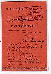 Sellos: Tarjeta postal comercial circulada con timbre Movil. 15 cts. Matasello Cuenca. Farmacia. - Foto 3 - 14675524