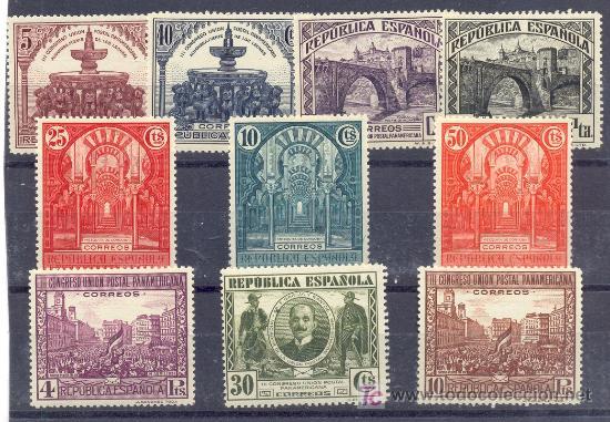 ESPAÑA.- REPUBLICA Nº 604/13 III CONGRESO UNION POSTAL PARAMERICANA NUEVOS SIN CHARNELA (Sellos - España - II República de 1.931 a 1.939 - Nuevos)