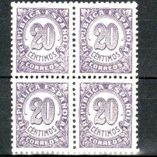 Sellos: ESPAÑA 748DA EN B4 SIN CHARNELA, VARIEDAD PAPEL BLANCO, DENTADO 11,1/4, BIEN CENTRADO, CIFRAS. Lote 19867068