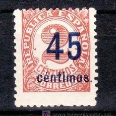 Sellos: ESPAÑA 743 SIN CHARNELA, CIFRAS, HABILITADOS CON NUEVO VALOR. Lote 15944754