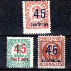 Sellos: ESPAÑA .742/4 CON CHARNELA, CIFRAS HABILITADOS CON NUEVO VALOR. Lote 52459401