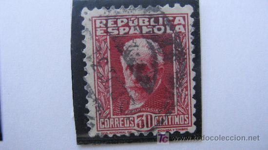 1931/32 PERSONAJES EDIFIL 659 (Sellos - España - II República de 1.931 a 1.939 - Usados)